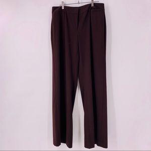 CAbi Lauren Brown Wide Leg Career Trouser Pants